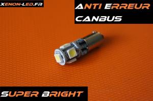 "H6W - BAX9S CanBus ""Super Bright"" 5 LED SMD"