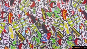 Sticker Bomb Monster 100cm x 75cm