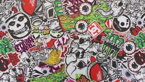 Sticker Bomb Eyes 4m x 1.52m
