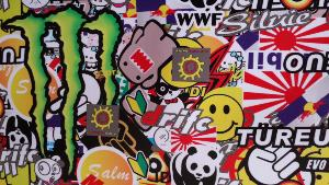 Sticker Bomb Japan Domo 100cm x 75cm