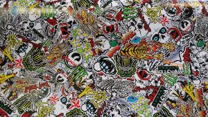 Sticker Bomb Tiger 2m x 1.52m