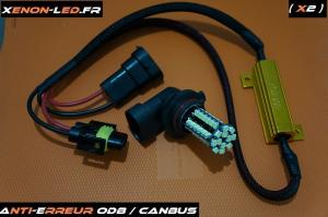 HB4 9006 - 60 LEDs SMD + Anti-Erreur ODB - Canbus