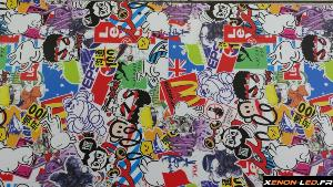 Sticker Bomb MCDO - Doreamon 4m x 1.52m