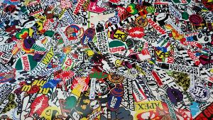 Sticker Bomb Castrol VW 2m x 1.52m