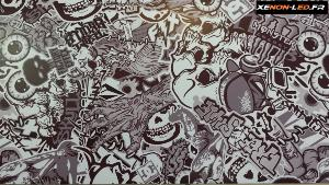 Sticker Bomb Eyes Noir et Blanc 5m x 1.52m