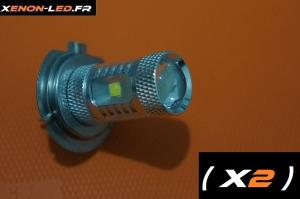 H7 - 6 LED CREE - 30W (Paire)