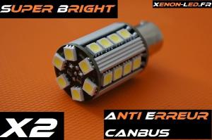 "P21W - BA15S ""Super Bright"" 26 LED SMD CanBus (Paire)"