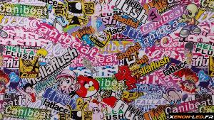 Sticker Bomb HELLAFLUSH 100cm x 75cm